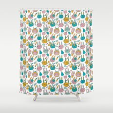 Pattern Project #14 / Bunny Faces Shower Curtain
