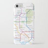 middle earth iPhone & iPod Cases featuring Middle Earth Transit Map by mehmetikberker