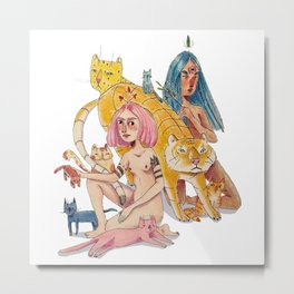 The Cat witches Metal Print