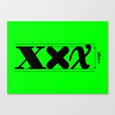 XXX-height. Canvas Print