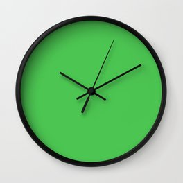 Solid Bright Kelly Green Color Wall Clock