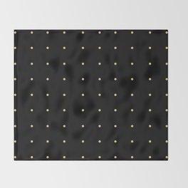 Black & Cream Polka Dots Throw Blanket