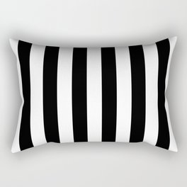 Parisian Black & White Stripes (vertical) Rectangular Pillow