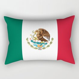 The National flag of Mexico (Officially the Flag of the United Mexican States)  Rectangular Pillow