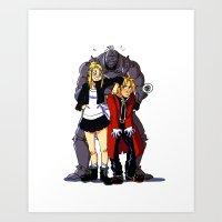fullmetal Art Prints featuring Fullmetal Alchemist by Mika