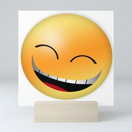 Laughing out loud smiley with teeth out and eyes closed Mini Art Print
