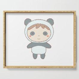 Cute Panda Kid Serving Tray