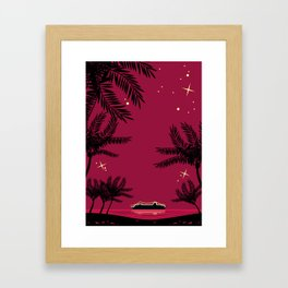 Tropical night Framed Art Print