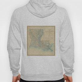 Vintage Map of Louisiana (1896) Hoody