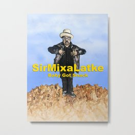 Hip Hop Hanukkah Painting, Sir Mix-a-Latke Metal Print