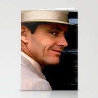 jack nicholson Stationery Cards featuring Jack Nicholson @ China Town by Gabriel T Toro