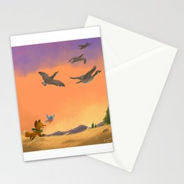 Fox and Boots - Migration Stationery Cards
