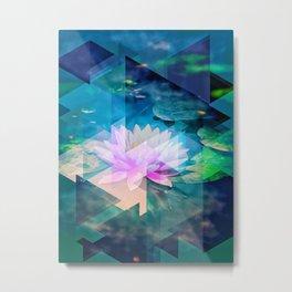 Abstract Lotus Metal Print
