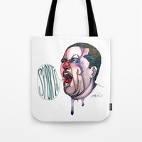 sports Tote Bags featuring SPORTS!  by Katie Acheson Wolford