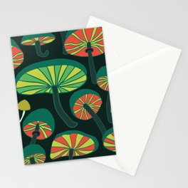 glowing mushrooms at night Stationery Cards