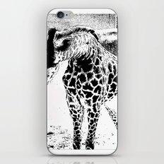 Black n White Giraffe iPhone & iPod Skin