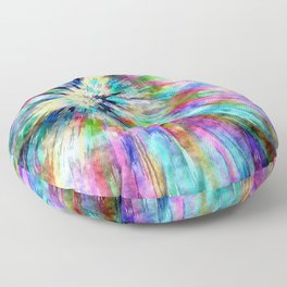 Colorful Tie Dye Watercolor Floor Pillow