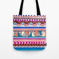 aqua Tote Bags featuring AQUA by Vasare Nar