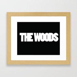 The Woods logo white Framed Art Print