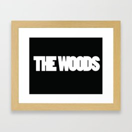 The Woods logo white Framed Art Print