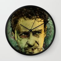 tumblr Wall Clocks featuring Schizo - Edward Norton by Fresh Doodle - JP Valderrama