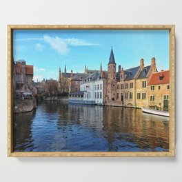 Belgium, City Canal 2 Serving Tray