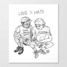 LOVE > HATE Canvas Print