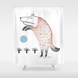 Full Moon is coming Shower Curtain