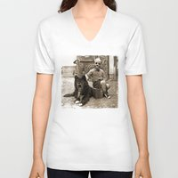 friendship V-neck T-shirts featuring Friendship by Seamless