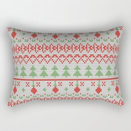2 Knitted Christmas pattern in retro style pattern Rectangular Pillow