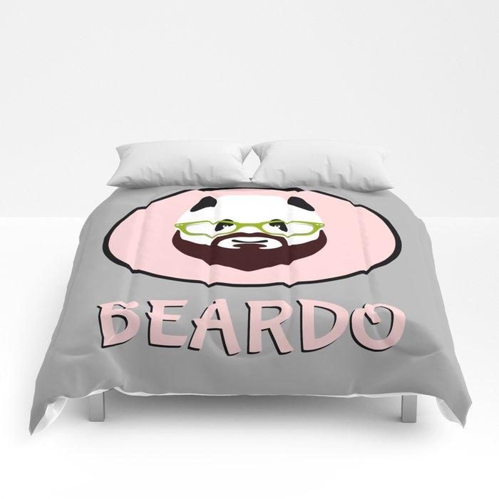 Beardo Panda with a Beard Comforters