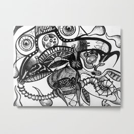Who Can Eat the Moon Metal Print