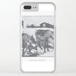 Terrified reindeer Clear iPhone Case