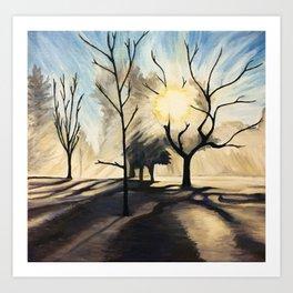 January Chill Art Print