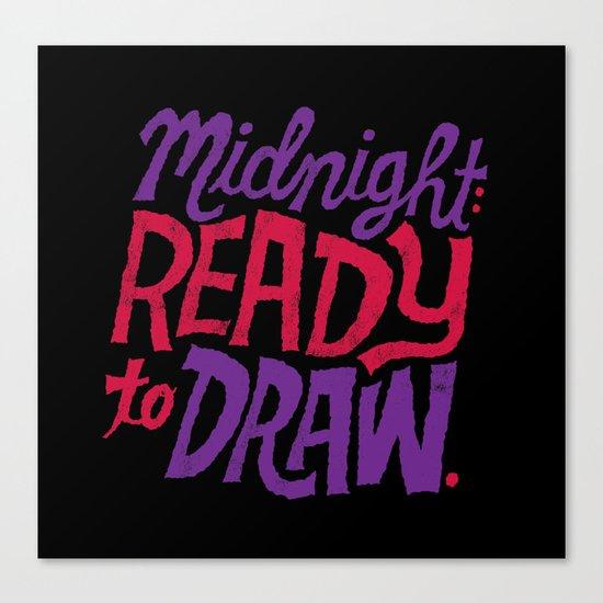 Midnight: Ready to Draw Canvas Print