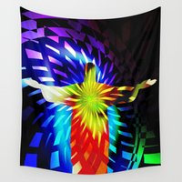 christ Wall Tapestries featuring Jesus Christ Eternal Light by Gift Of Signs