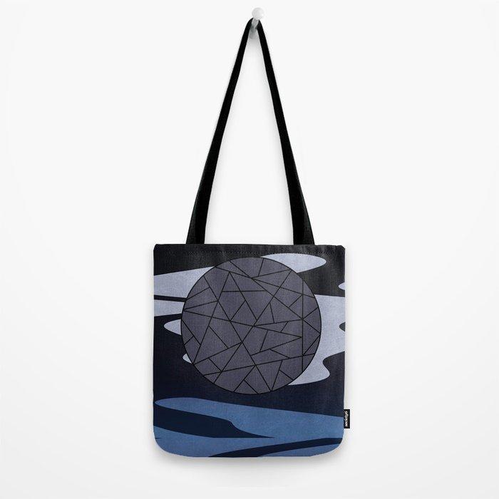 DARK MOON (abstract geometric) Tote Bag