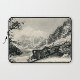 Antique train rack railway near Mont Blanc French Alps Laptop Sleeve