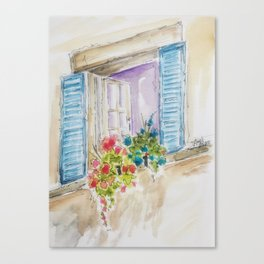 Old World Window Canvas Print