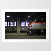 Metra mornings Art Print