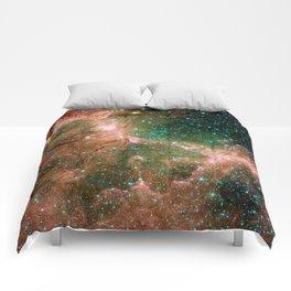 Eagle Nebula Infrared Feathers Comforters