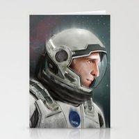 interstellar Stationery Cards featuring Interstellar by San Fernandez