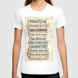 Normas de la casa T-shirt