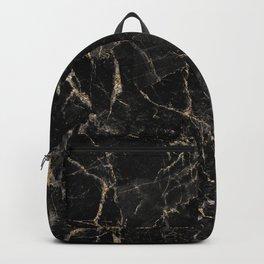 Black Marble with Golden Veinings (viii 2021) Backpack
