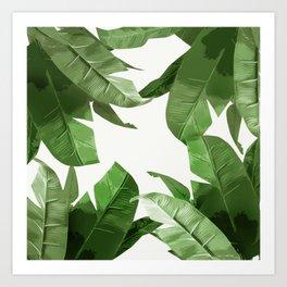 Tropical Palm Print Treetop Greenery Art Print