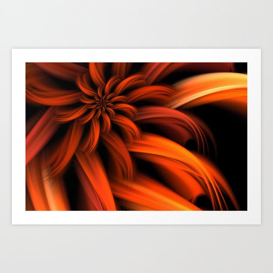 The Red Dahlia Art Print