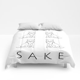 Oh Four Fox Sake - Black and White - Sayings and Phrases... Comforters
