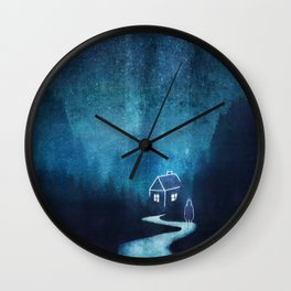 Alone In A Ghost Town Wall Clock