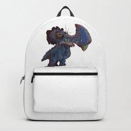 Blue Hammer Horned Saggy Bottom Creature Backpack