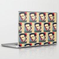 battlestar galactica Laptop & iPad Skins featuring Baltar 'Messiah' design. Inspired by Battlestar Galactica. by hypergeek